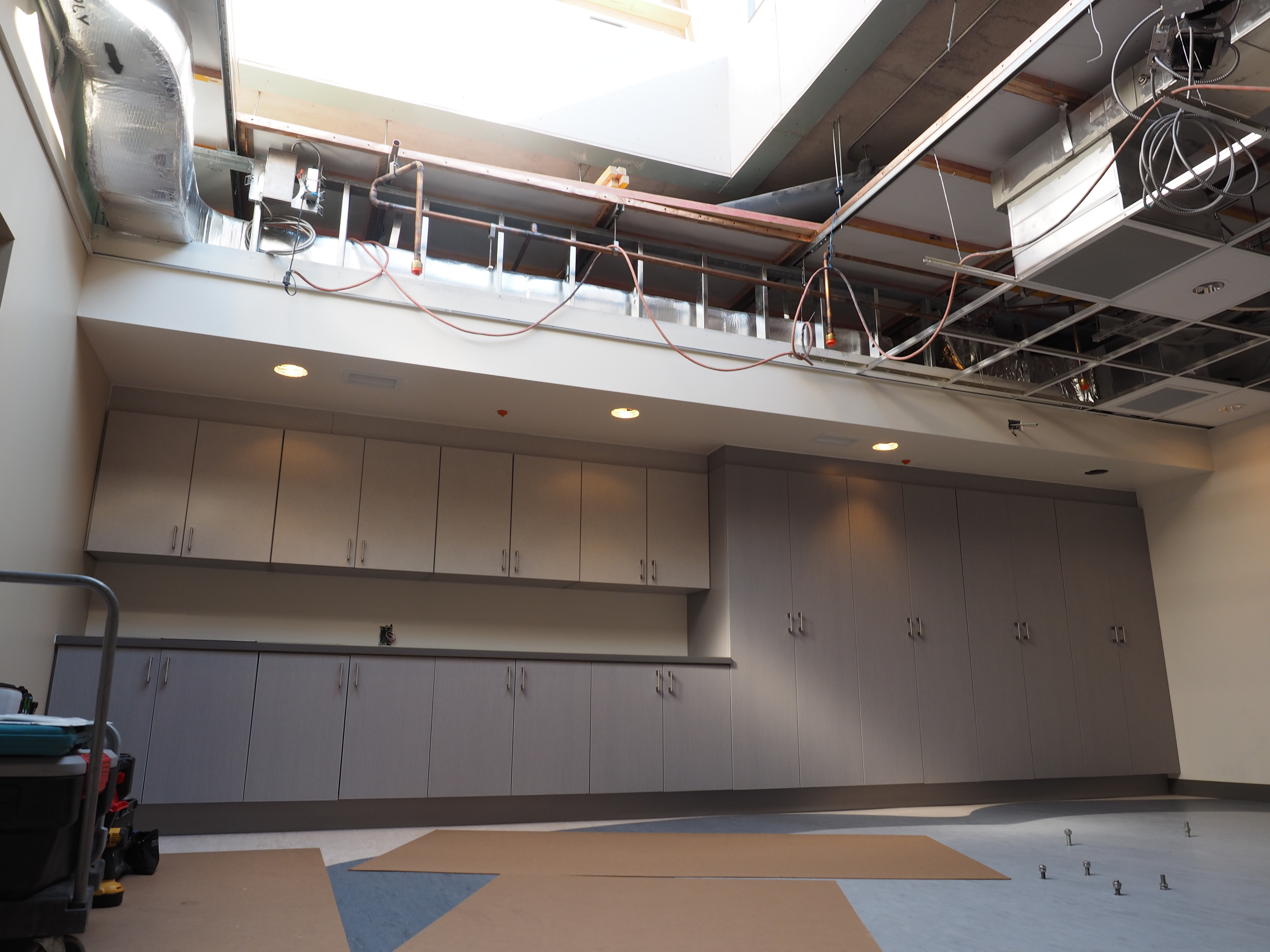 Roof access for lowering the MRI into the specially designed room.