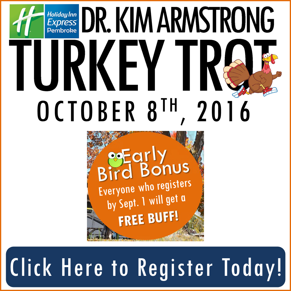 Register today for the 2016 Turkey Trot! Early Bird Bonus!