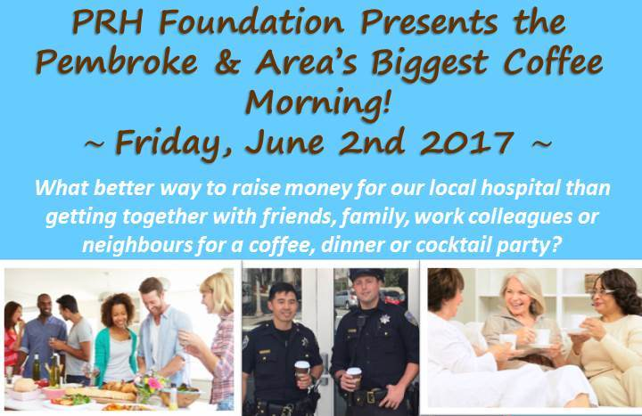 You are currently viewing PRH Foundation To Host Pembroke & Area's Biggest Coffee Morning