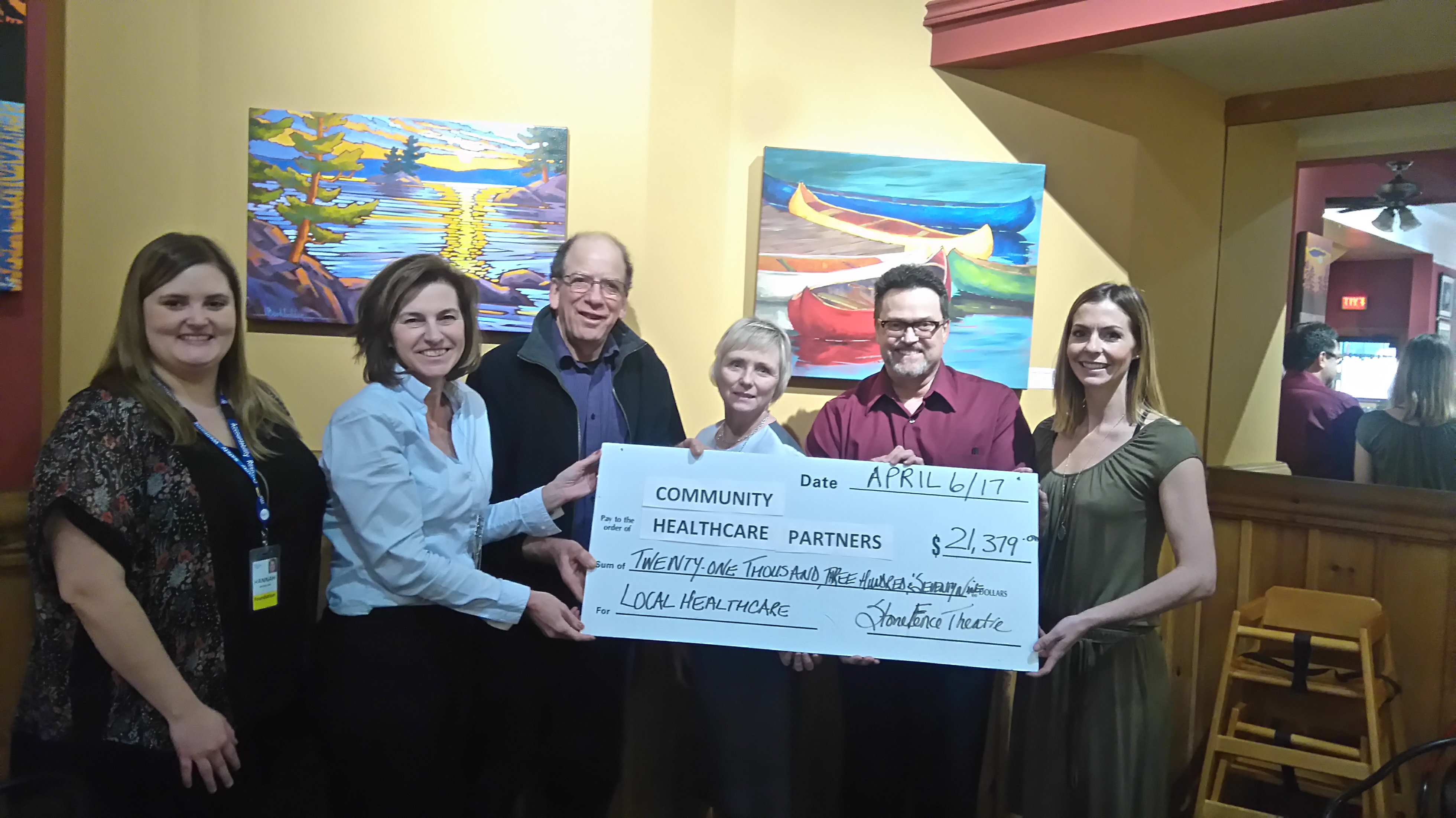 You are currently viewing Stone Fence Theatre helped raise $21K + for local  health care
