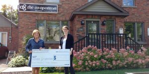 Read more about the article Frances M. Lemke Co-operators Insurance Gifts $4,400 in Support of the PRH Foundation Cutting Edge Campaign