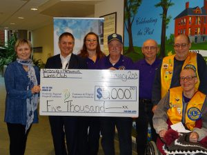 Read more about the article Lion's Club Donates $5,000 to Community Health