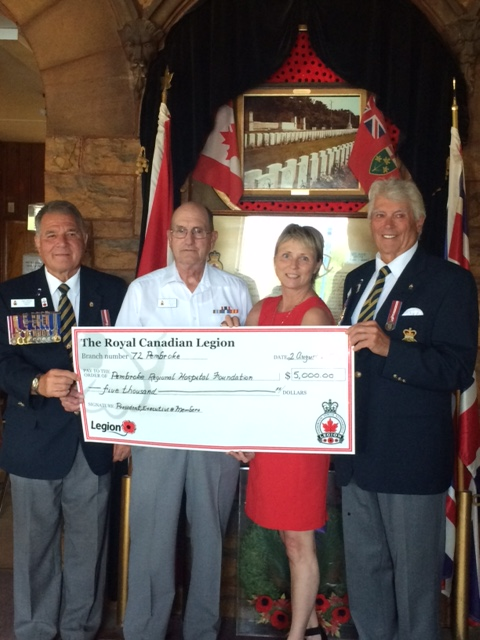 You are currently viewing Pembroke Legion Serves Renfrew County Health Care with $5,000 Donation