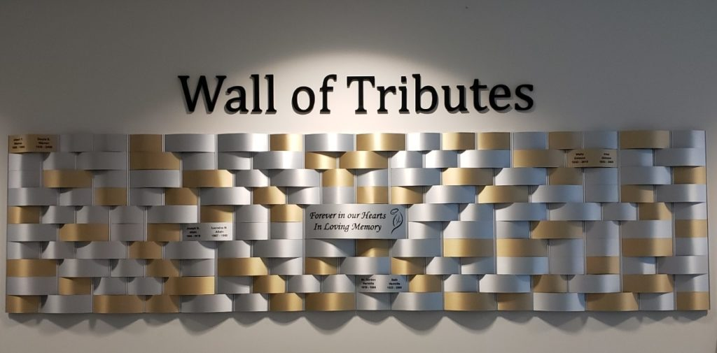 Tribute Wall and In Memory Donations