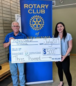 Read more about the article Petawawa Rotary Club Gifts $3000 to Cutting Edge Health Care
