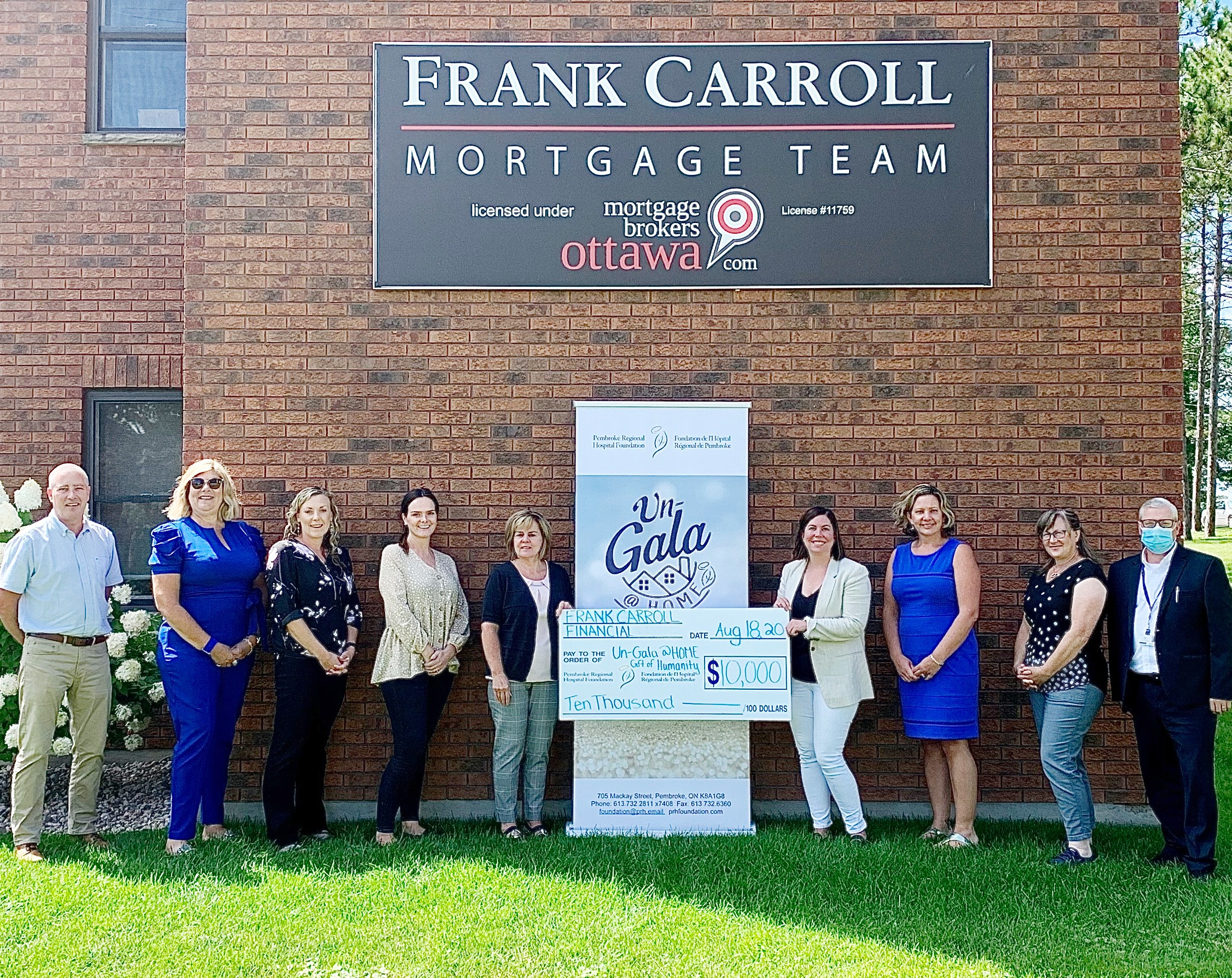 You are currently viewing Frank Carroll Financial contributes $10,000 as Gift of Humanity Sponsor of the Pembroke Regional Hospital Foundation's 2020 Un-Gala @ Home event
