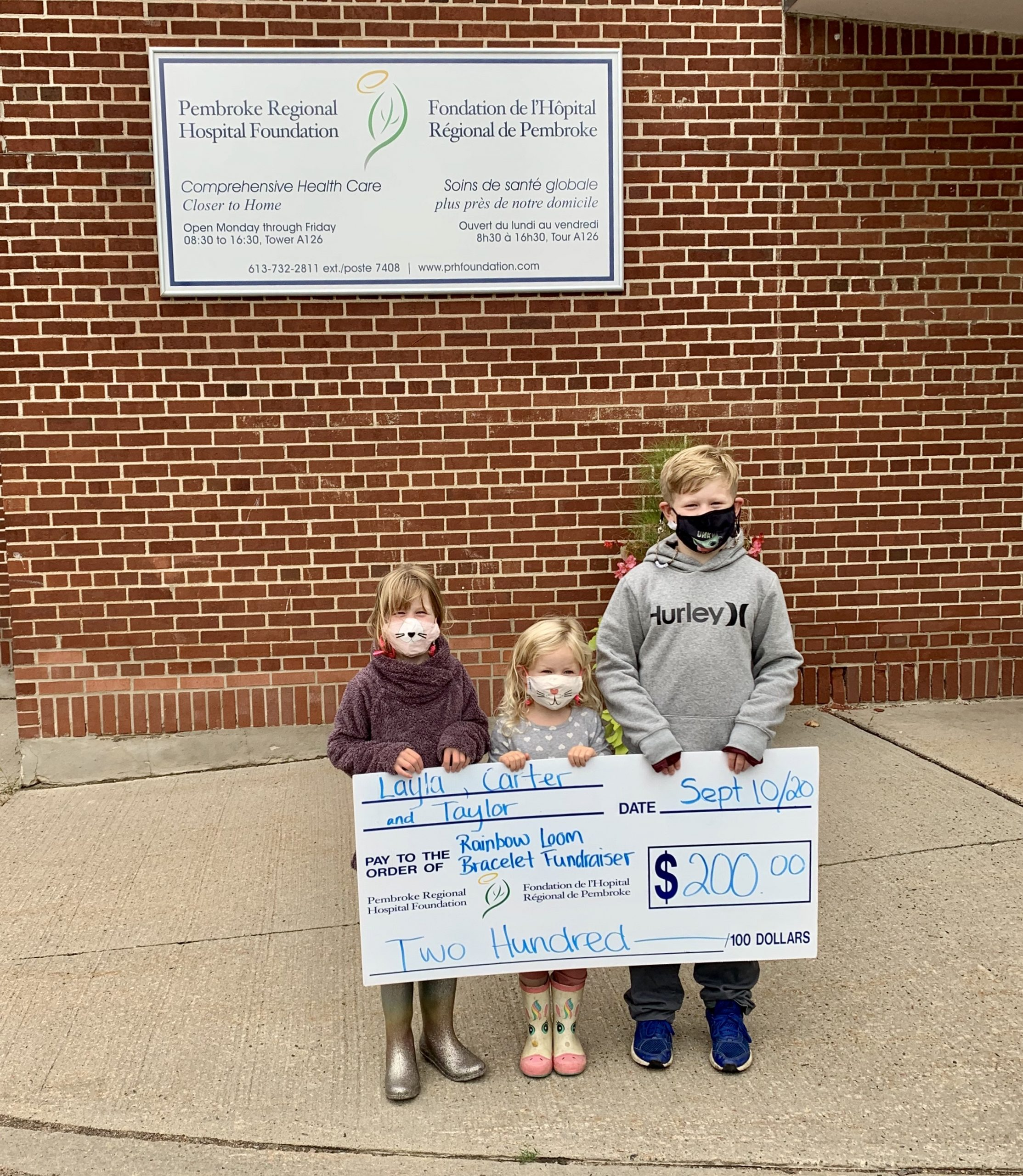 You are currently viewing Local Siblings Raise $200 for the Pembroke Regional Hospital