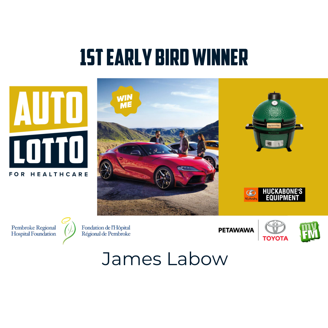 Read more about the article Congratulations to James Labow, the winner of the first Early Bird Draw for our Auto Lotto!