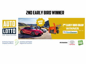 Read more about the article Congratulations to Marcey Stefanski, Winner of the Second Early Bird Draw for our Auto Lotto!