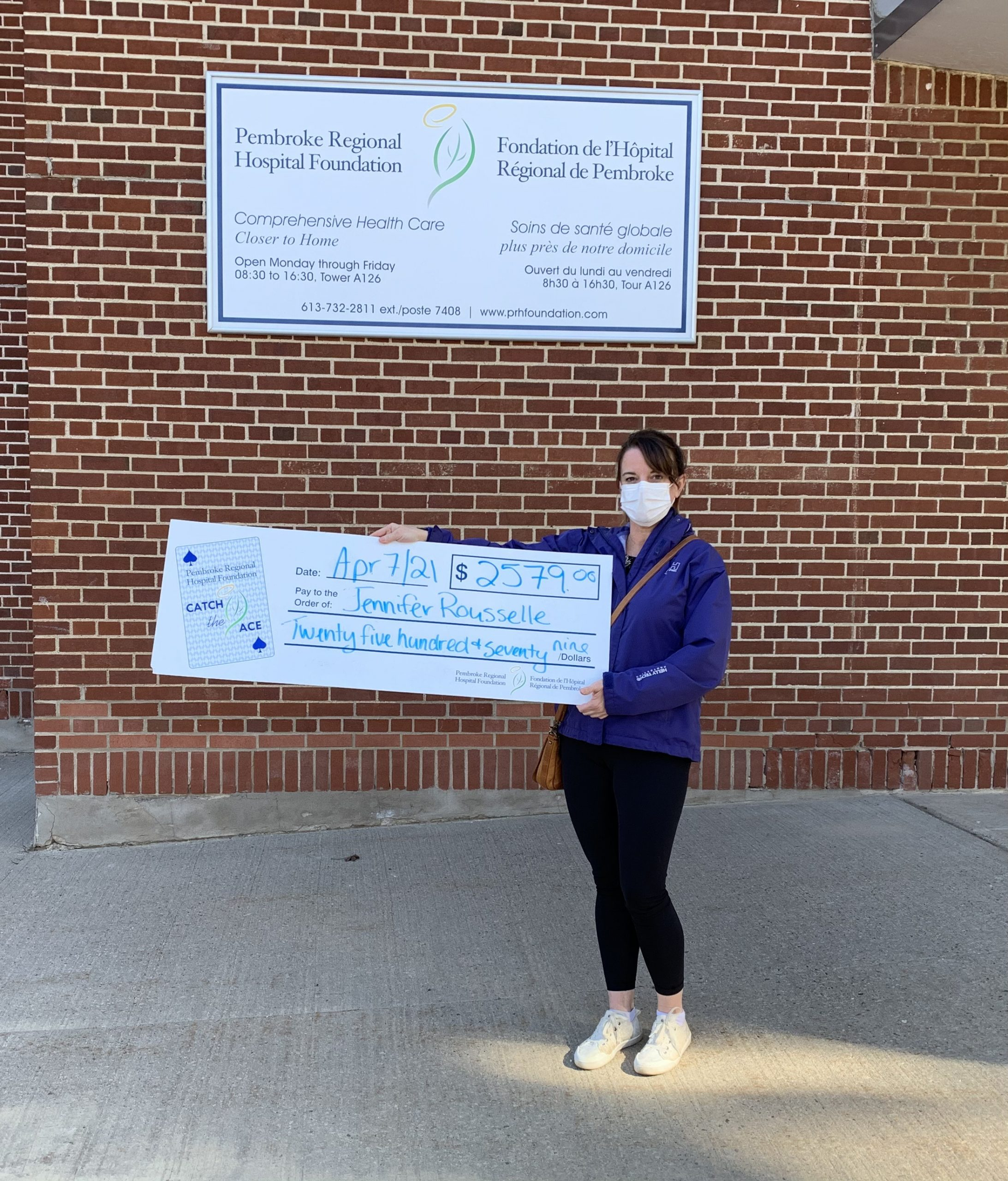 Pembroke Regional Hospital Foundation Catch the Ace Winner