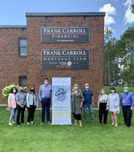 Frank Carroll Financial Team Donates to Un-Gala at home