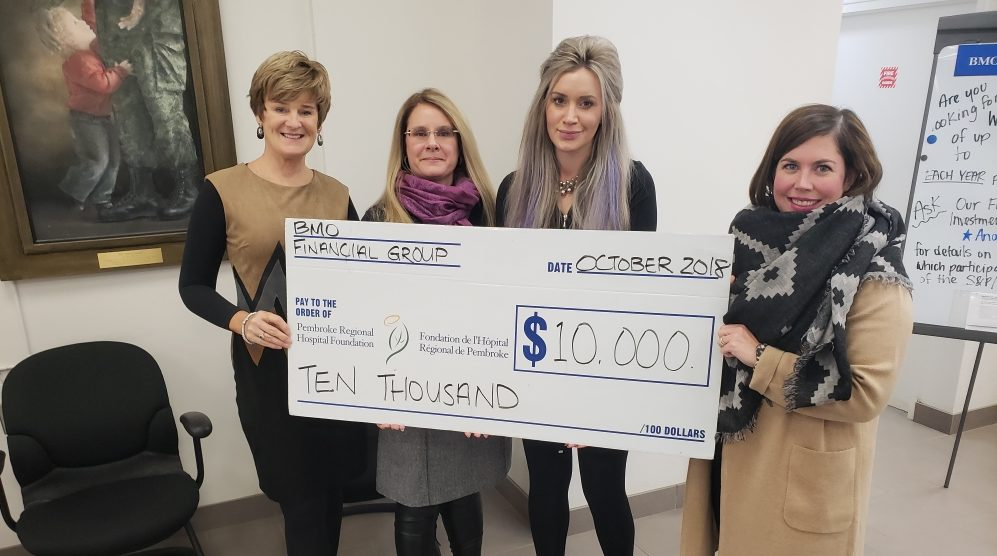 You are currently viewing Pembroke Regional Hospital Foundation secures $10,000 contribution to Hospital Gala from BMO Financial Group